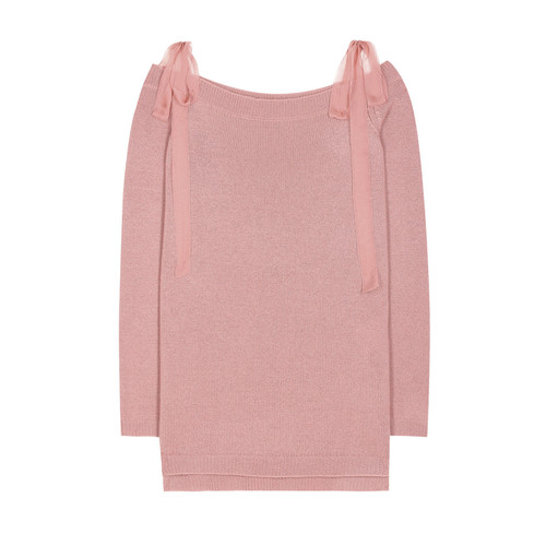 VALENTINO Off-The-Shoulder Pullover