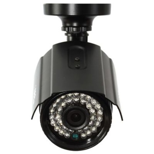 Q-See QTH8053B-4 Wired Bullet Indoor/Outdoor Security Camera, Night Vision, Black