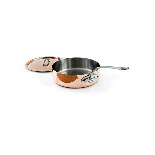 Mauviel 1830 M'heritage 1.5mm - 3.2 Qt Copper & Stainless Steel Saute Pan w/Lid