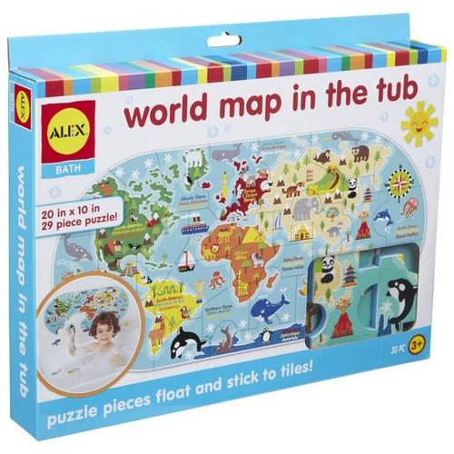 Alex Toys Bath World Map in the Tub Foam Puzzle - 30-Piece