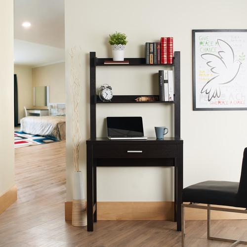 Furniture of America Cappuccino Riven Tall 2-Shelf Desk