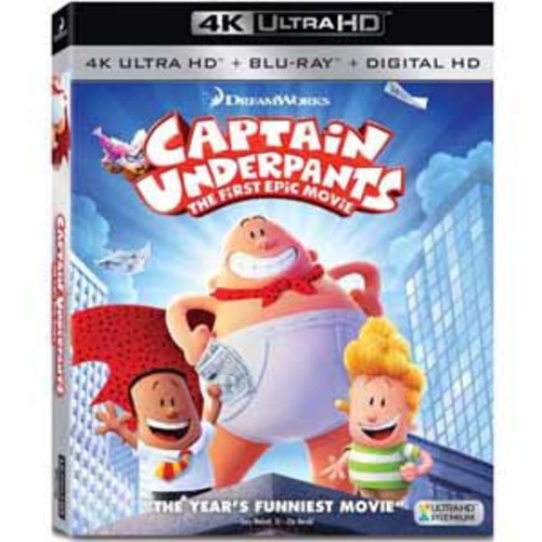Captain Underpants: The First Epic Movie [4KUHD] [Blu-Ray] [Digital HD]