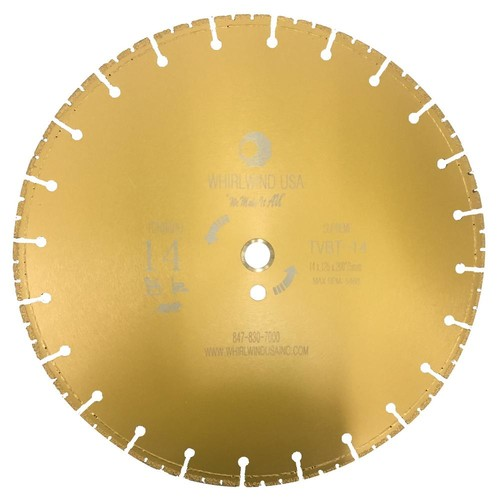 Whirlwind USA 14 in. 72-Teeth Segmented Diamond Blade for Dry and Wet Metal Cutting