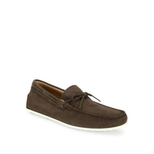 Pebbled Nubuck Leather Loafers