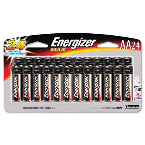 Energizer - MAX Alkaline Batteries, AA, 24 Batteries/Pack E91SBP24H (DMi PK