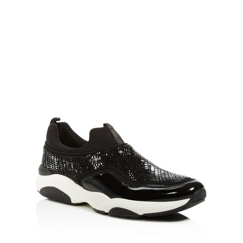 Crystallized Patent Leather Sneakers