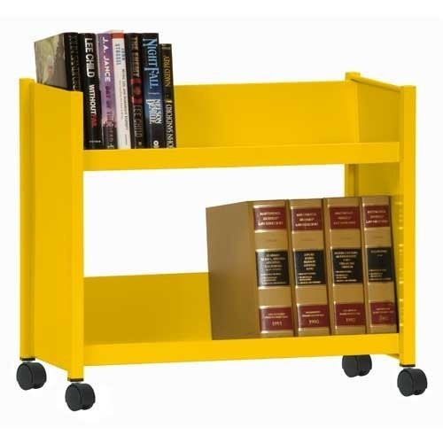 Sandusky Lee SR227-EY Sloped Shelf Welded Bookcase, 14
