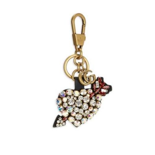 Pierced Heart Crystal Keychain