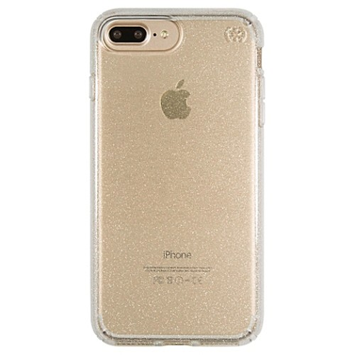 speck Presidio Case for iPhone 7 Plus in Clear with Gold Glitter