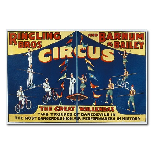 Ringling Brothers and Barnam & Bailey Circus, 16x24-Inch Canvas Wall Art [16 by 24-Inch]