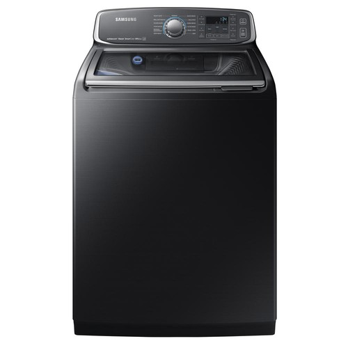 Samsung 5.2 cu. ft. High-Efficiency Top Load Washer with Steam and Activewash in Black Stainless Steel, ENERGY STAR