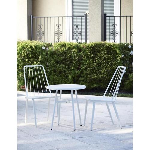 Cosco 3-piece White Outdoor Bistro Steel Patio Furniture Set