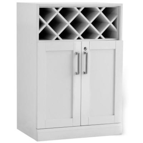 Age Products Home Bar White 16 in. Wine Storage Cabinet