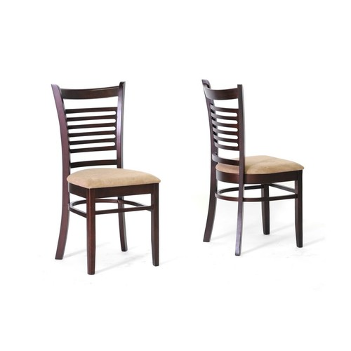 Baxton Studio Cathy Brown Wood Modern Dining Chair (Set of 2)