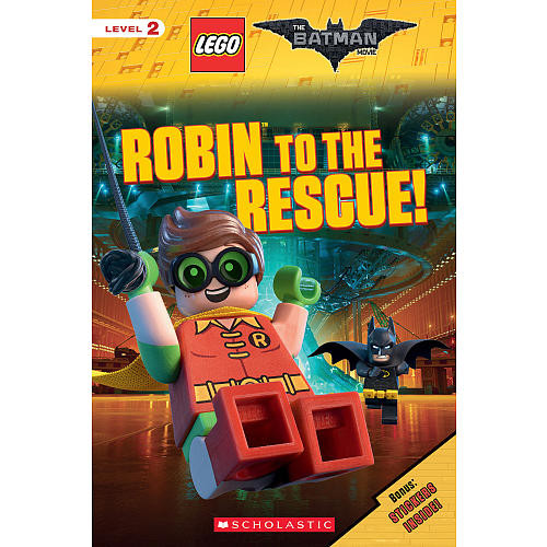 LEGO The Batman Movie Robin to the Rescue! Book - Level 2