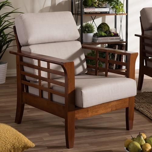 Baxton Studio Larissa Cushioned Lounge Chair