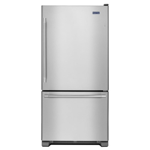 Maytag 30 in. W 19 cu. ft. Bottom Freezer Refrigerator in Fingerprint Resistant Stainless Steel
