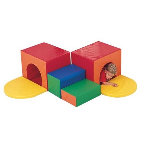 Primary 6 Piece Corner Tunnel Climber Set