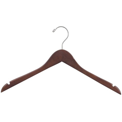 Wooden Walnut Finish Clothes Hanger