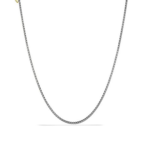 Small Box Chain with Gold, 16