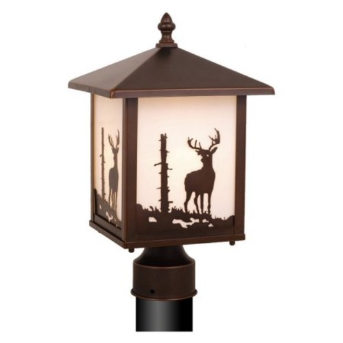 Vaxcel OP33585BBZ Bryce 8-Inch Outdoor Post Light, Burnished Bronze [Burnished Bronze]
