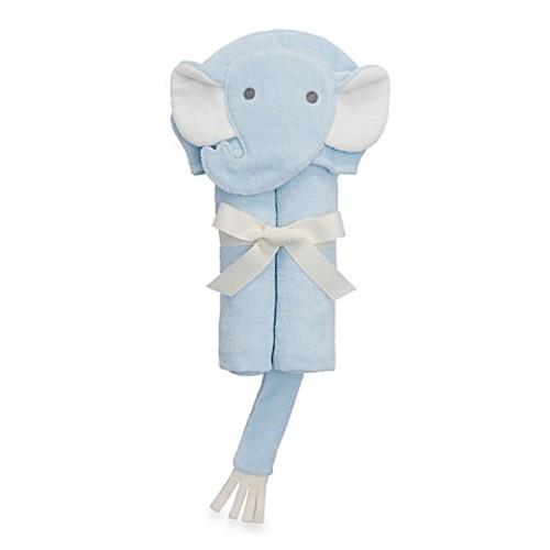 Elegant Baby Elephant Bath Wrap Towel in Blue
