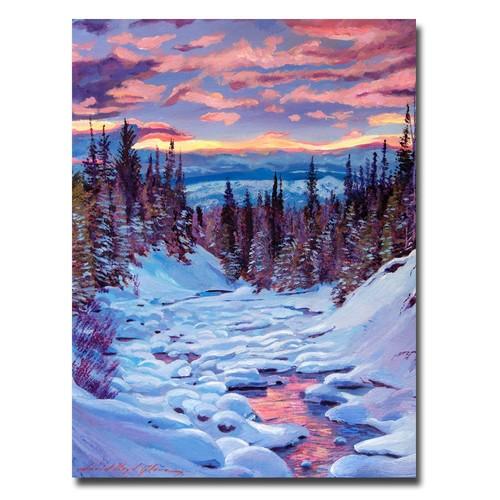 Trademark Global David Lloyd Glover 'Winter Solstice' Canvas Art [Overall Dimensions : 18x24]