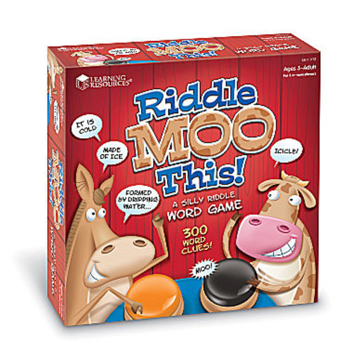 Learning Resources Riddle Moo This Silly RiddleWord Game
