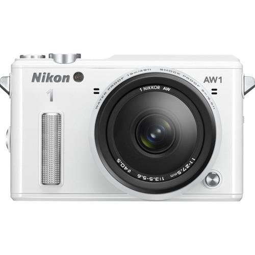 Nikon Refurbished 1 AW1 14.2MP Waterproof Mirrorless Camera w/ 11-27.5mm Lens (White)