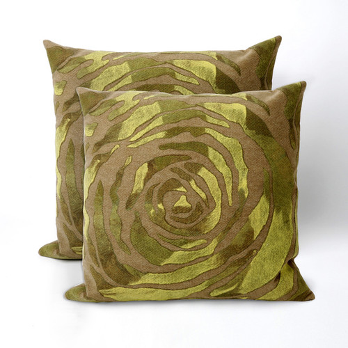 Dyed Roses 20 inch Decorative Throw Pillow (Set of 2)