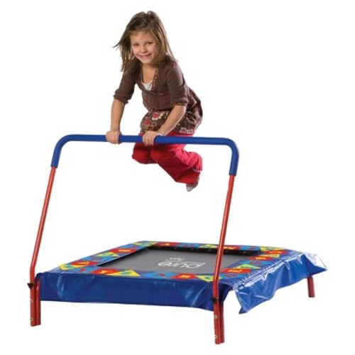 Pure Fun Square Kids Trampoline with Bar - 36\