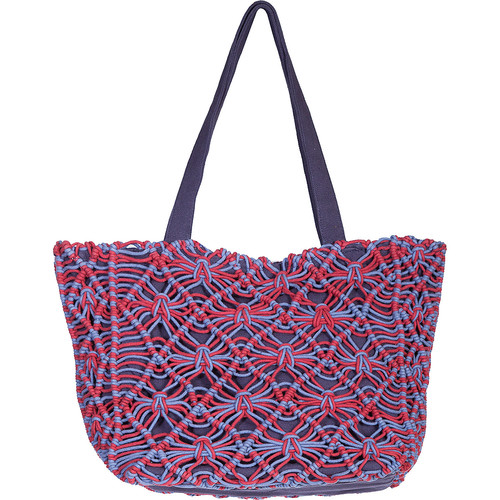 Scully Two-Toned Macrame Shoulder Bag