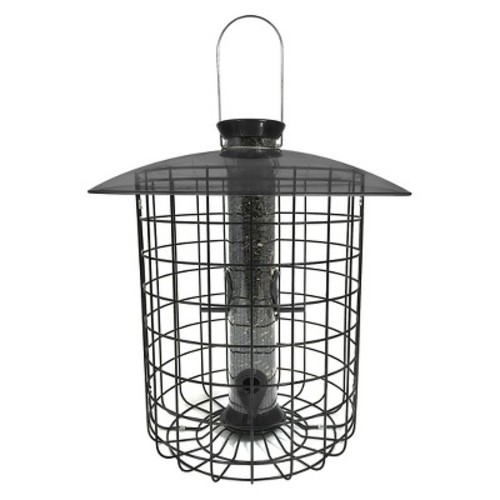 Droll Yankees Sunflower Squirrel Proof Domed Cage Bird Feeder - Black
