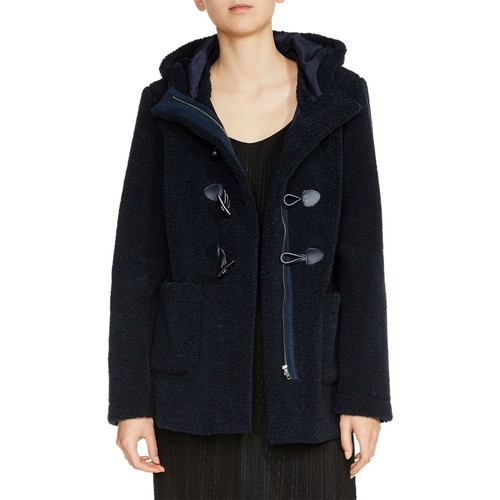MAJE Givry Toggle-Closure Textured Coat