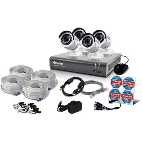 Swann 4 Channel 3MP Full HD DVR with 1TB HDD and 4x 1080p Outdoor Bullet Cameras