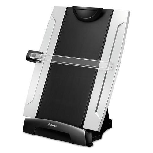 Fellowes FELice Suites Desktop Copyholder, Plastic, 150 Sheet Capacity, Black/Silver