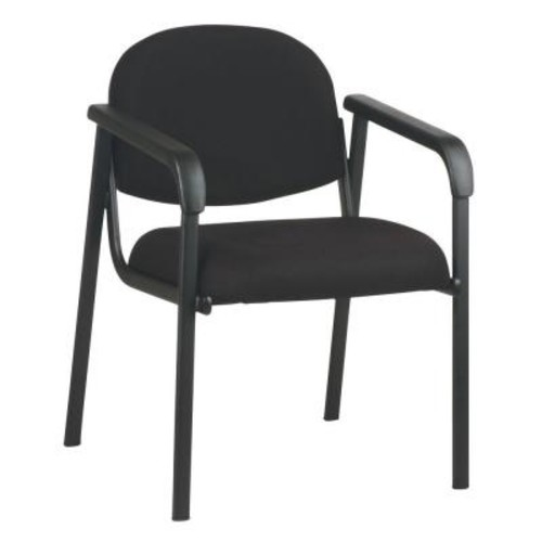 Work Smart Black Visitor Office Chair