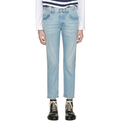 GUCCI Blue 'Loved' Jeans