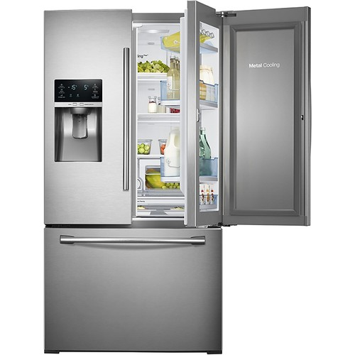 Samsung 28 cu. ft. 3-Door French Door Food ShowCase Refrigerator - Stainless Steel