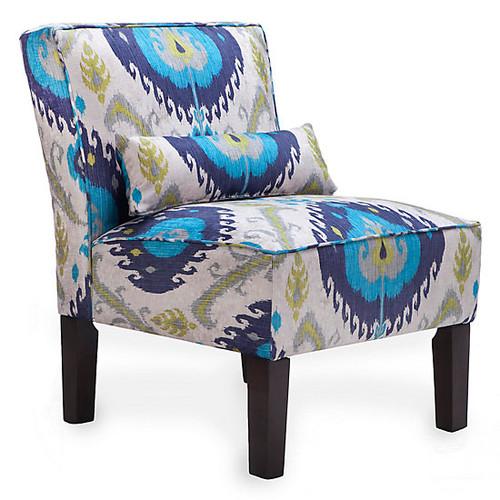 Samara Slipper Chair [Fabric : Samara_Sapphire]