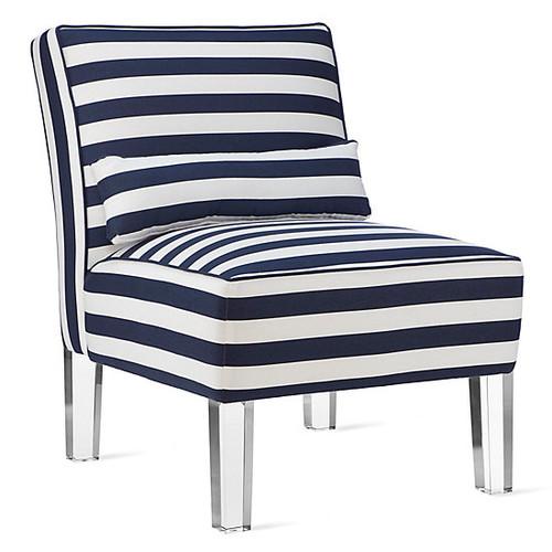 Avery Slipper Chair [Fabric : Avery Navy]