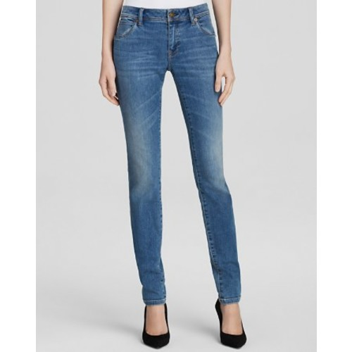 BURBERRY Brit Skinny Jeans In Mid Indigo