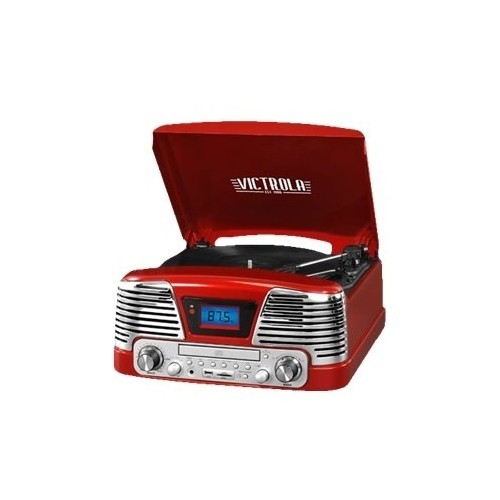 Victrola - 50's Bluetooth Stereo Audio System - Red