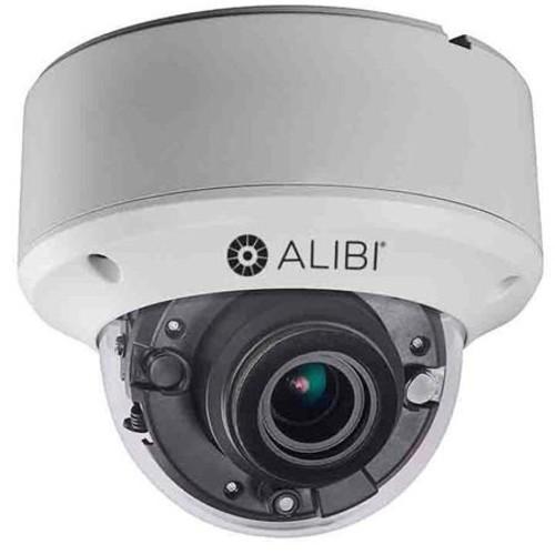 Alibi 5.0MP HD-TVI Vandalproof Outdoor Dome Security Camera, 135' IR, White