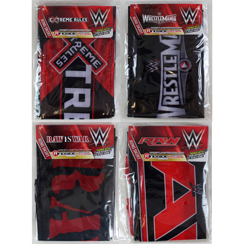WWE PACKAGE DEAL Ring Skirts (WrestleMania 31, Raw is War, Extreme Rules & Raw 2014) Ringside Exclusive Toy Ring Accessories