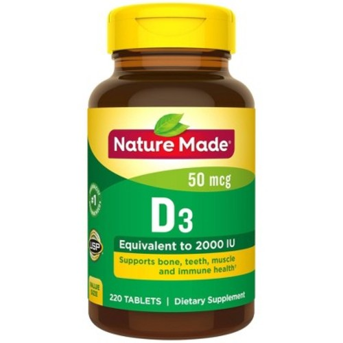 Nature Made Vitamin D3 2000 I.U. Tablets