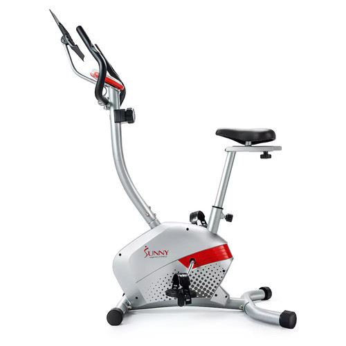 Sunny Health & Fitness Magnetic Upright Exercise Bike [Gray]