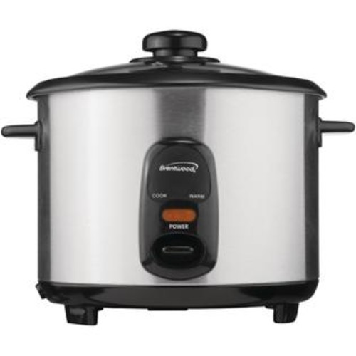 Brentwood 10C RICE COOKER STAINLESS, Stainless Steel 10-Cup Rice Cooker, 10-cup capacity , Stainless steel body , Nonstick coated i