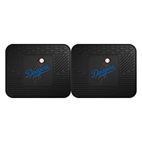 Fanmats 12336 MLB Los Angeles Dodgers Rear Second Row Vinyl Heavy Duty Utility Mat, (Pack of 2)