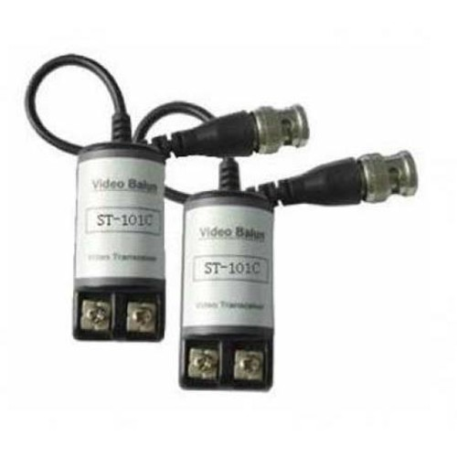 Securitytronix 1 Channel Composite Video Balun Kit with Strain Relief